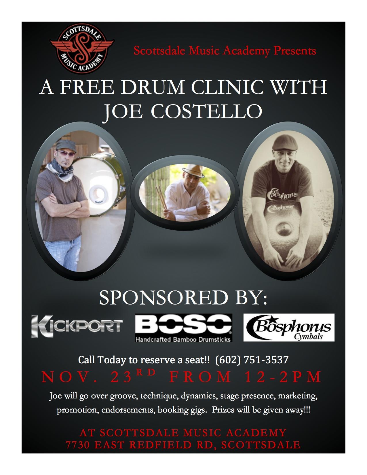 Nov. 23rd Drum Clinic