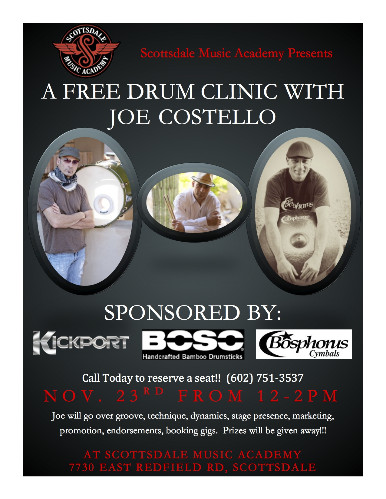 Nov. 23rd Drum Clinic
