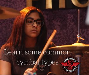common-cymbal-types for drumset